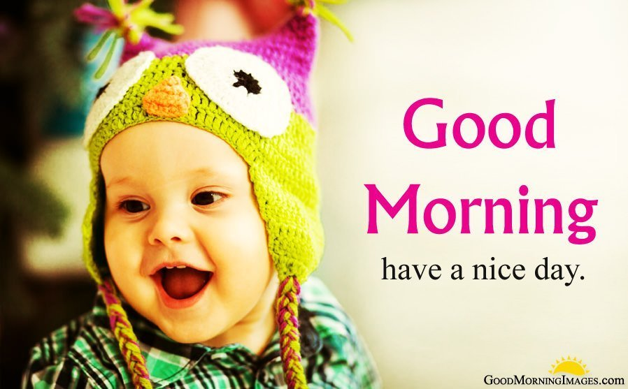 Cute Smiling Good Morning Baby Photos