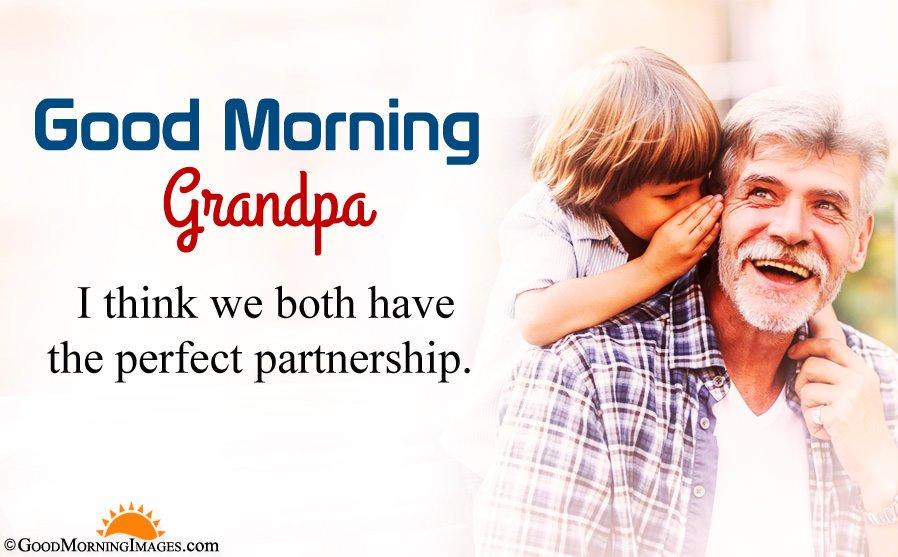 Grandpa and Kids Bonding Gm Wishes