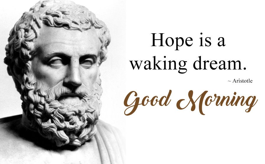 Aristotle Status Quotes about Waking Dream
