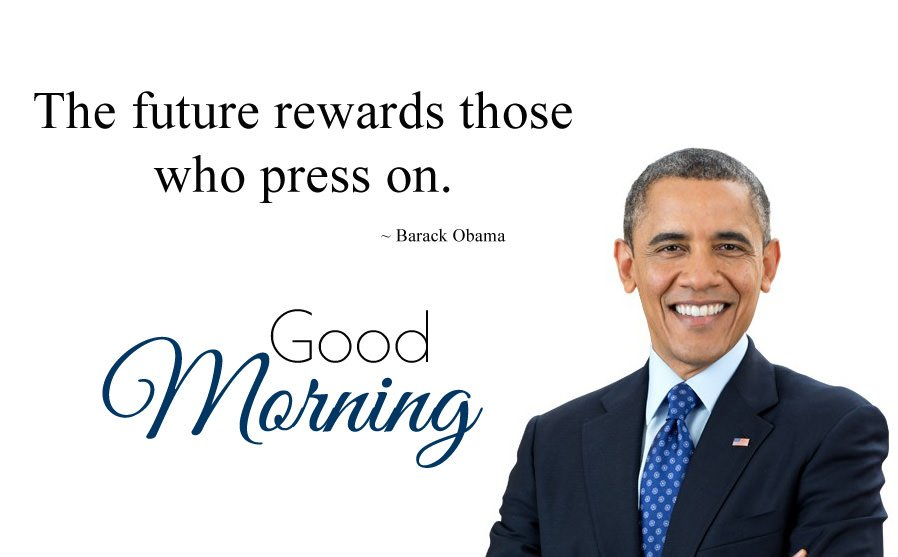 Barack Obama Status and Morning Wishes Msg