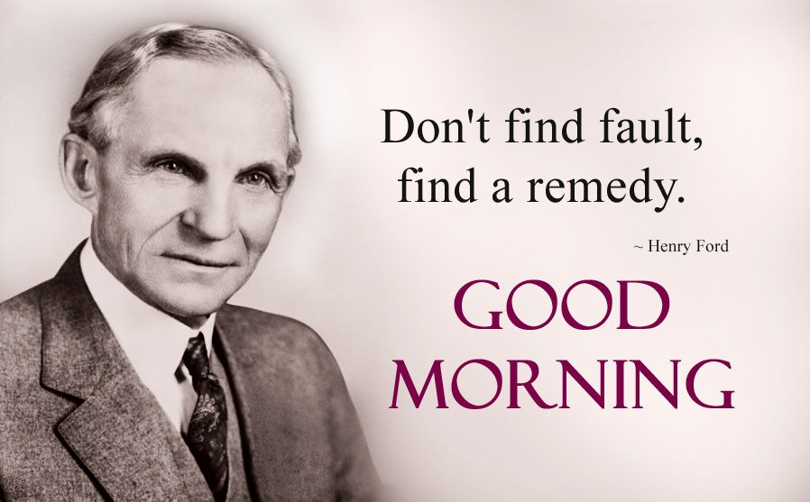 Henry Ford Famous Lines with Good Morning Wishes Images
