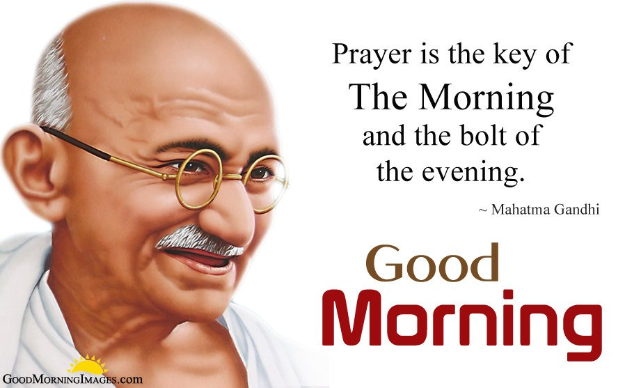 Mahatma Gandhi Good Morning Motivational Quotes