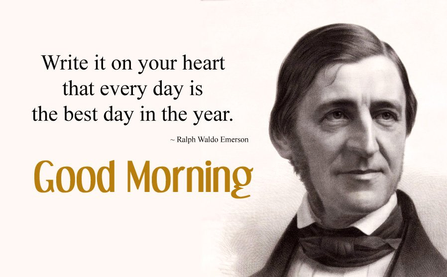 Ralph Waldo Emerson Quotes About Best Day