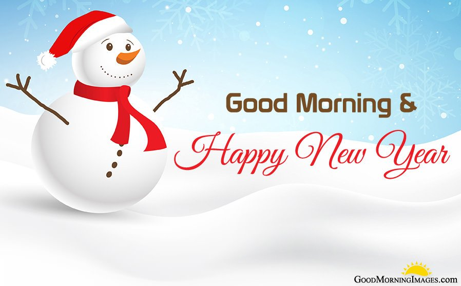 Cute Winter Bunny New Year Morning Pic
