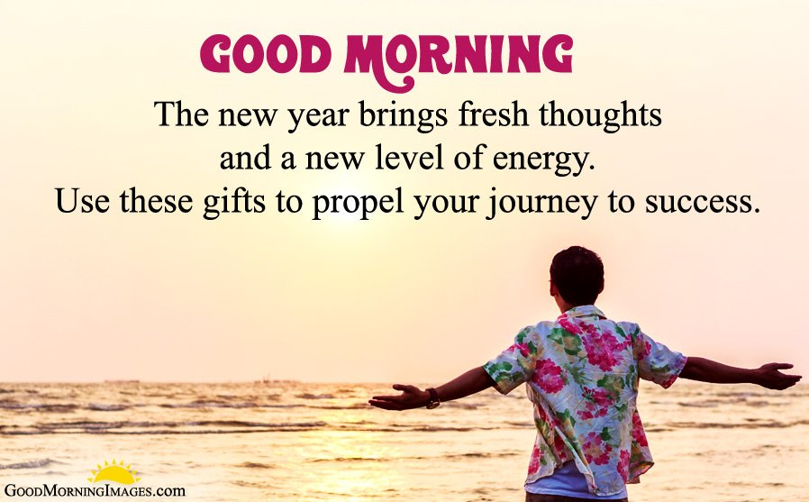 Inspiring GM New Year Wishes Messages