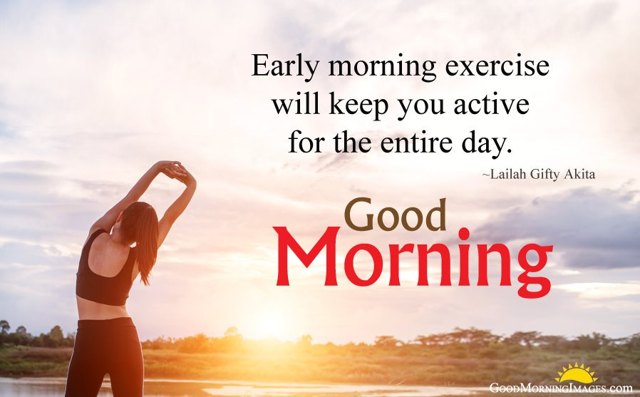 Early Morning Exercise Quotes