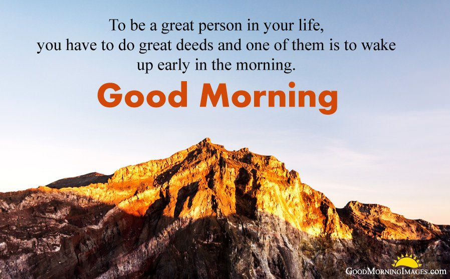 Good Morning Greetings for Early Morning