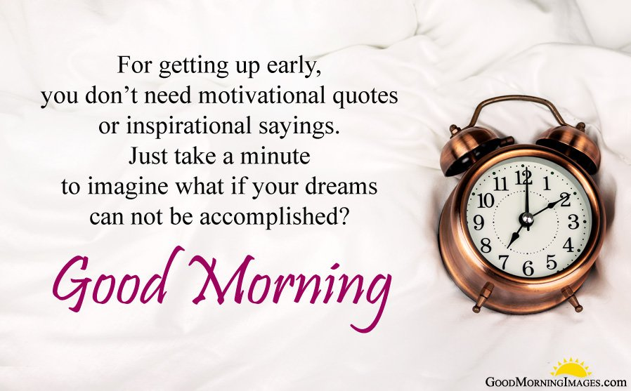 Good Morning Wishes about Dreams