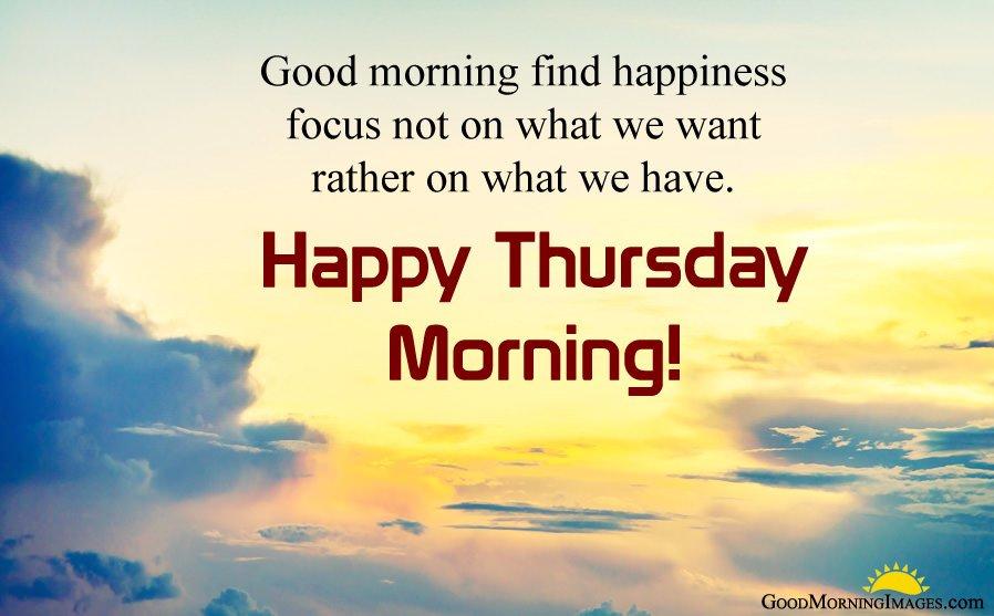 Happy Thursday Morning Blessings