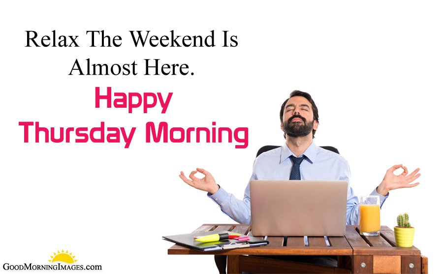 Relax on Thursday Positive Saying for Office Employee's